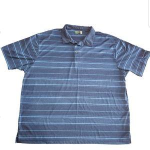 Ben Hogan Performance Blue Striped Golf Polo 3XL